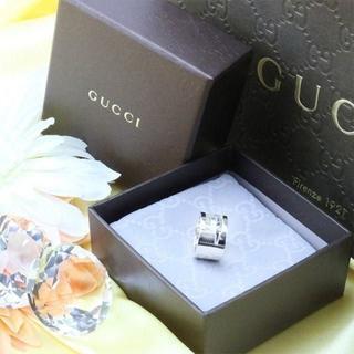 グッチ(Gucci)の☆新品☆未使用☆Gucci グッチ ブランデッドオープンGリング11号(リング(指輪))