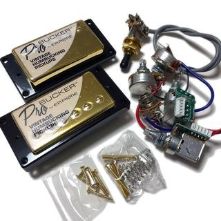 エピフォン(Epiphone)のEpiphone ProBucker 2・3ゴールド&配線済みハーネスセット(エレキギター)