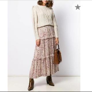 イザベルマラン(Isabel Marant)のイザベルマラン 花柄ティアードマキシ丈スカート(ロングスカート)