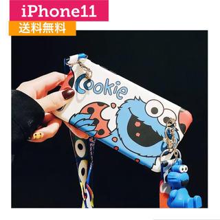 セサミストリート(SESAME STREET)のストラップ付きiPhoneケース クッキーモンスター(iPhoneケース)