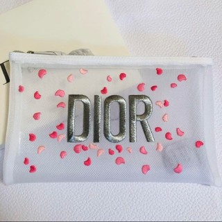 Dior - 早い者勝ち⚠️新品✨ディオール♡花びら刺繍メッシュポーチ