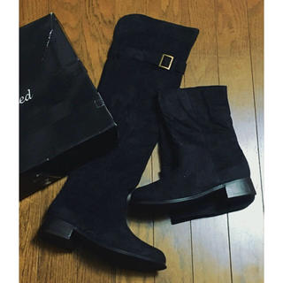 未使用 ニーハイ ブーツ ロング ブーツ ブラック Lサイズ(ブーツ)