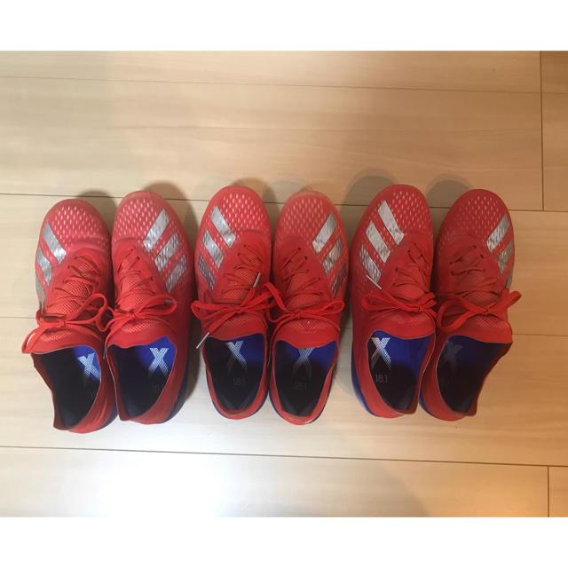 adidas(アディダス)のアディダス 18.1 エックス X FG 25.5 中古3足!! スポーツ/アウトドアのサッカー/フットサル(シューズ)の商品写真