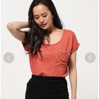 リエンダ(rienda)のrienda  パールビジューポケットTee(Tシャツ(半袖/袖なし))