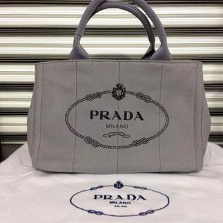 PRADA カナパ グレー 人気のSサイズ ミニ