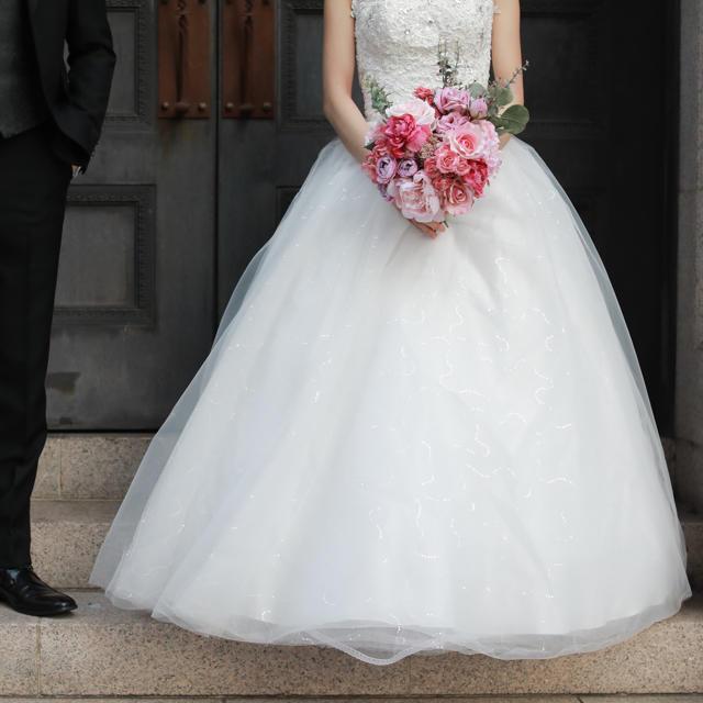 Vera Wang(ヴェラウォン)のウェディングドレス レディースのフォーマル/ドレス(ウェディングドレス)の商品写真