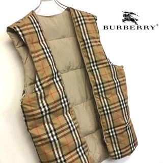 BURBERRY - 美品 BURBERRY ダウンベスト ノヴァチェック柄