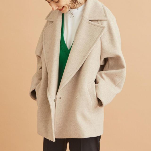 BEAUTY&YOUTH UNITED ARROWS(ビューティアンドユースユナイテッドアローズ)のレディース  コート メルトン レディースのジャケット/アウター(ピーコート)の商品写真