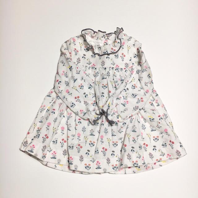 PETIT BATEAU(プチバトー)のうさん様 プチバトー♡ワンピース12m キッズ/ベビー/マタニティのベビー服(~85cm)(ワンピース)の商品写真