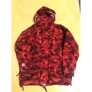 A BATHING APE - bape color camo red snowboard jacket