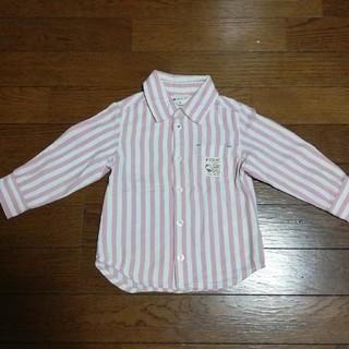 mikihouse - 値下げ【美品】ピクニックストライプシャツ