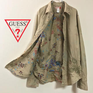 GUESS - 90s GUESS ゲス 花柄リバースプリント★総柄シャツ