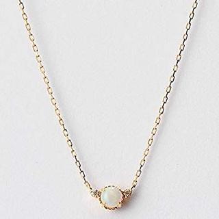 agete - agete K10 オパール ダイヤ ネックレス ¥30,800