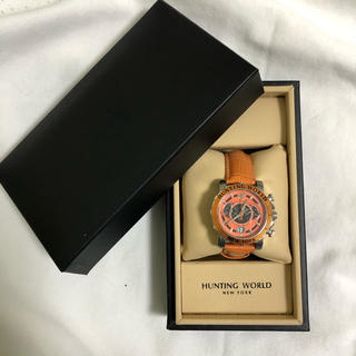 HUNTING WORLD 腕時計 イリス HW913 オレンジ