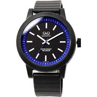 ブルー[シチズン Q&Q]腕時計 10気圧防水 ウレタンバンド カジュアル ポッ