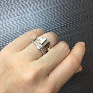 ティファニー(Tiffany & Co.)の美品 ティファニー  T スクエア リング 指輪 シルバー(リング(指輪))