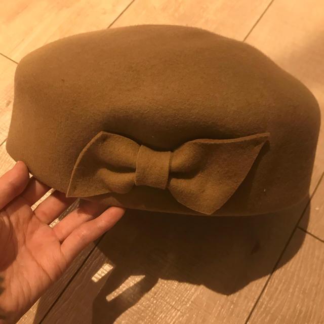 Amavel(アマベル)のウールハット ハット 帽子 ベレー ベレー帽 ベージュ ブラウン レディースの帽子(ハット)の商品写真