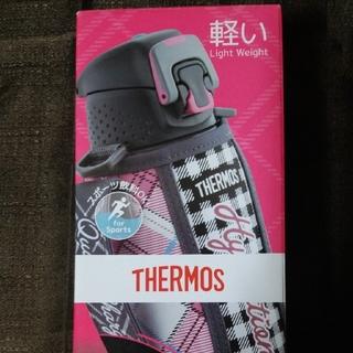 サーモス(THERMOS)のサーモス 真空断熱スポーツボトル 1.0L グレイギンガム FFZ-1002F(弁当用品)