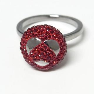 スワロフスキー(SWAROVSKI)の【スワロフスキー】ディズニー レッドクリスタル リング 指輪(リング(指輪))