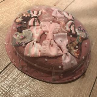 アンジェリックプリティー(Angelic Pretty)のLeon Cecilia レオンセシリア 帽子 ピンク リボン ミニハット(ハット)