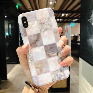 光沢 iPhonexr 花柄 大理石 ケース タイル アイフォンケース(iPhoneケース)