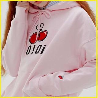 ⭐️新品未使用⭐️ビッグチェリー 韓国 oioi パーカー フリーサイズ ピンク