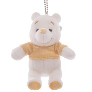 Disney - プーさん ぬいぐるみキーホルダー・キーチェーン White Pooh ゴールド