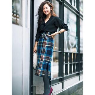 Mila Owen - 新品 チェックツイードタイトスカート
