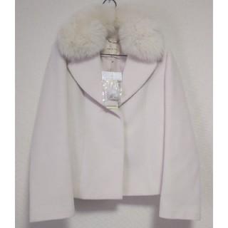 デビュードフィオレ(Debut de Fiore)の新品タグ付き。ファー衿付きLADYショートコート(毛皮/ファーコート)