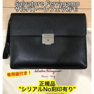 Salvatore Ferragamo - 【希少】 正規品 サルバトーレ フェラガモ / セカンド バッグ 黒 レザー