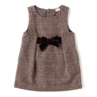 petit main - 【新品、未使用】プティマイン ウエストリボンジャンパースカート