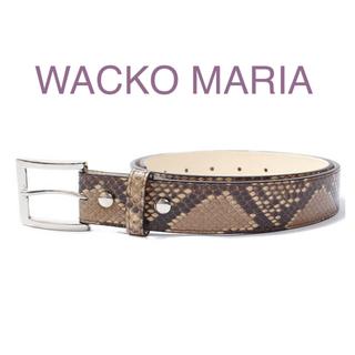 ワコマリア(WACKO MARIA)のPYTHON LEATHER BELT wackomaria (ベルト)
