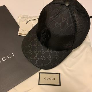 Gucci - 【新品未使用】GUCCI グッチ GGナイロン メッシュキャップ Lサイズ