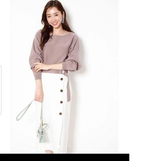 JUSGLITTY - 新品 ジャスグリッティー  配色ボタン ニットアップ セットアップ スカート