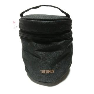 サーモス(THERMOS)の完売品 THERMOS サーモス フード コンテナー ポーチ REB-001 黒(弁当用品)