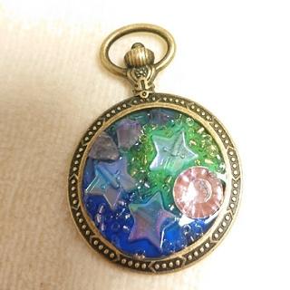 星とアメジスト、ピンクキュービックジルコニアのネックレス(ネックレス)