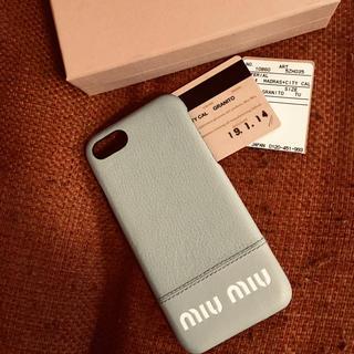 miumiu - 正規品ミュウミュウiPhoneケース