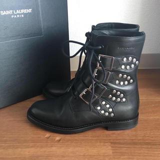 サンローラン(Saint Laurent)の送料込み☆サンローランのエンジニアブーツ☆36サイズ☆美品☆(ブーツ)