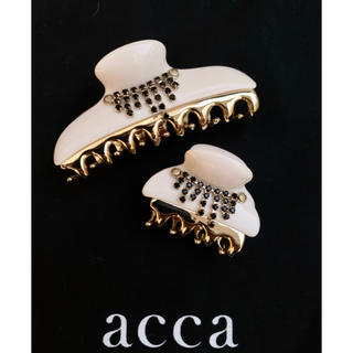 acca - acca クリップ オフホワイト系