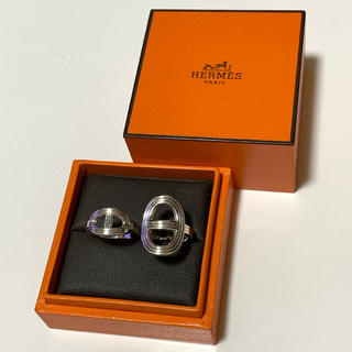 Hermes - Hermès  Chaine d'Ancre  Double  Ring 13号