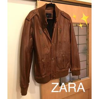 ZARA - レザージャケット ブラウン ZARA