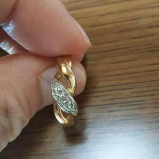ゴールド シルバー ダイヤ 指輪(リング(指輪))