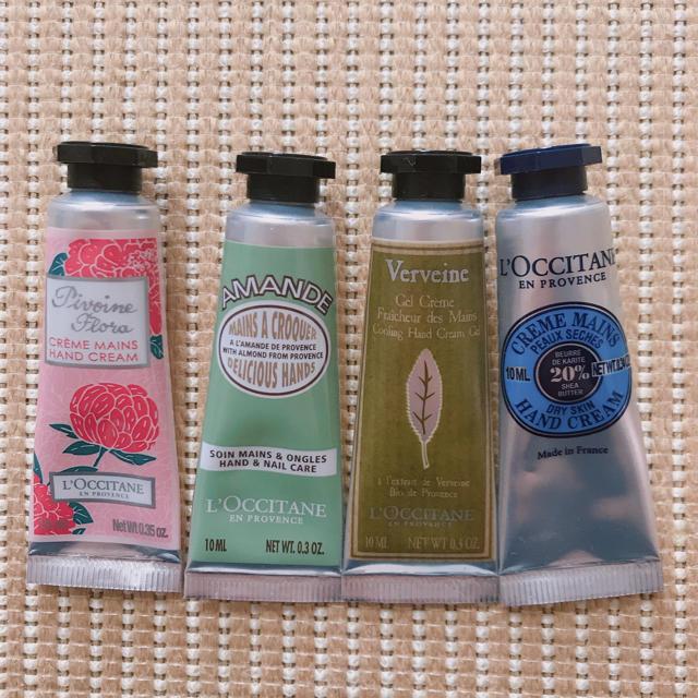 L'OCCITANE(ロクシタン)の【ロクシタン】ミニハンドクリーム4本セット コスメ/美容のボディケア(ハンドクリーム)の商品写真