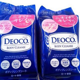 ロート製薬 - [限定品]  デオコ  DEOCO  薬用 ボディクレンズボディシート 36枚入
