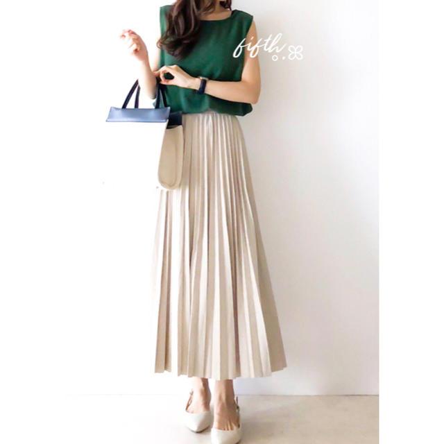fifth(フィフス)のfifth プリーツスエードロングスカート アイボリー୨୧*。 レディースのスカート(ロングスカート)の商品写真