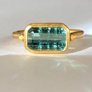 発光ブルートルマリンk18ゴールドリング検索マリーエレーヌ ジェムパレス(リング(指輪))
