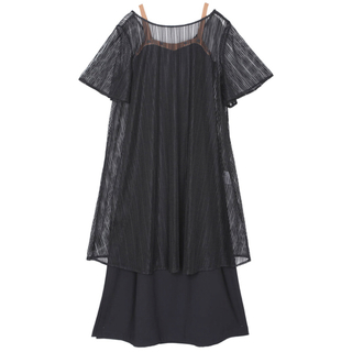 Ameri VINTAGE - AMERI BELTED MESH DRESS