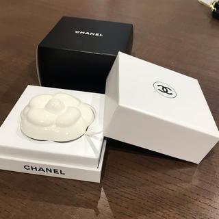 CHANEL - CHANEL セラミックカメリア アロマストーン 置物 ペーパーウエイト