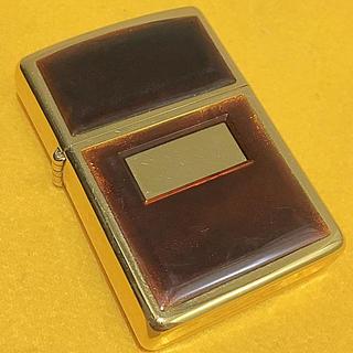 ジッポー(ZIPPO)のZIPPO 廃番 ゴールデントータス ヴィンテージ ゴールド 両面仕様 良品(タバコグッズ)