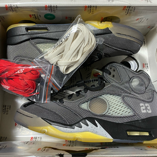 NIKE - off-white × JORDAN5 US9.5 27.5cm
